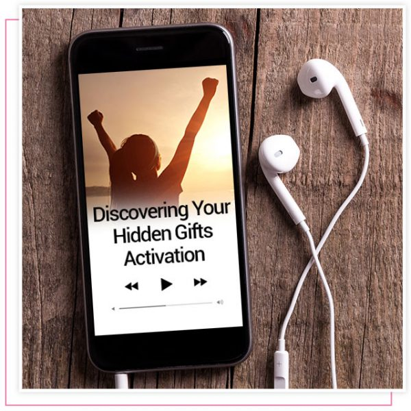 product screenshot of audio activation titled Discovering Your Hidden Gifts